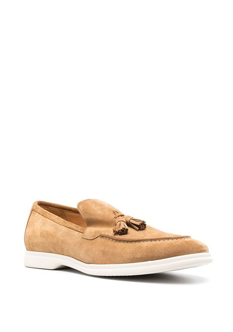 Navy blue suede and leather tassel-detail loafers   ELEVENTY |  | C77SCAC04-SCA0C00803