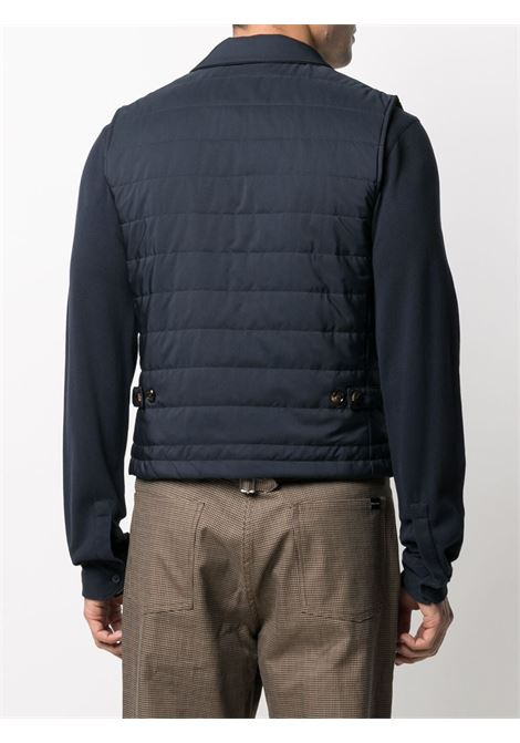 Navy-blue padded buttoned-up gilet  ELEVENTY |  | G70GILC10-TES0C19211
